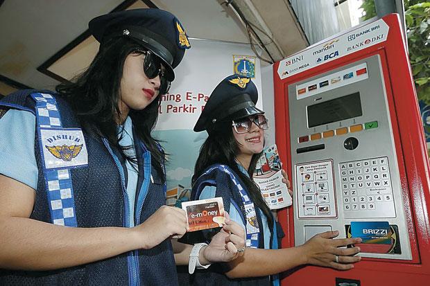 Ilustrasi parkir elektronik di kawasan, Sabang, Jakarta Pusat/ANTARA FOTO
