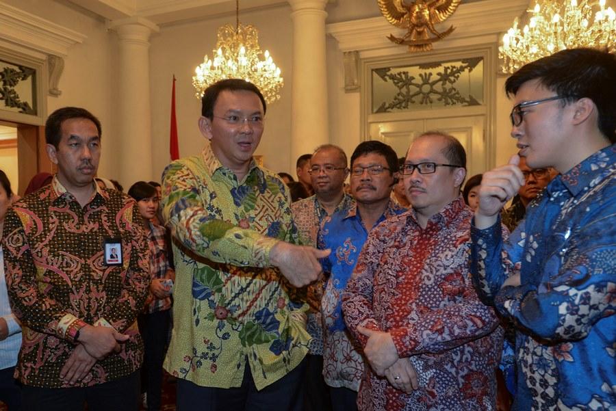 Ilustrasi. Gubernur DKI Jakarta Basuki Tjahaja Purnama (kedua kiri). Antara.