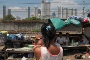 Salah satu potret kemiskinan di Jakarta. Ketimpangan ekonomi di Indonesia semakin tinggi selama setahun terakhir. (Andrey Gromico/The Geotimes)