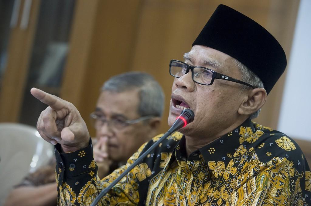 Ketua Umum PP Muhammadiyah Haedar Nashir. ANTARA FOTO/ Widodo S. Jusuf