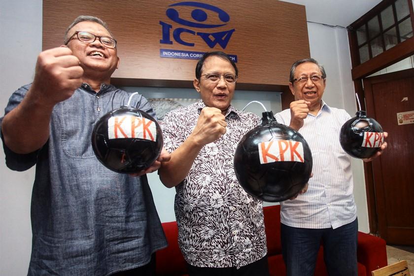 Teror legislatif untuk Komisi Pemberantasan Korupsi. Antara Foto