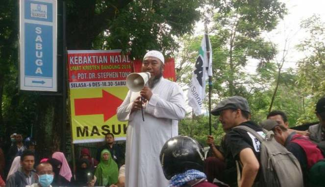 Pengadangan ibadah KKR Natal di Sabuga Bandung oleh ormas PAS (Istimewa)