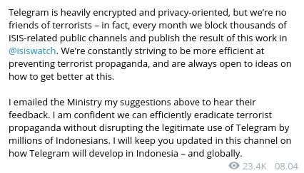 Pemblokiran Telegram: Hasil Miskomunikasi dan Kepanikan Kemkominfo
