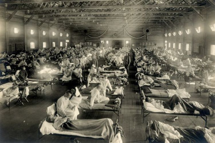 Barak untuk pasien yang mengidap Flu Spanyol tahun 1918 di Kansas