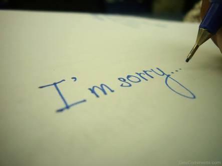 Ilustrasi permohonan maaf. Sumber: desicomments.com